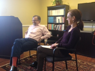 We also bring in agents and editors to conference with our students. Thank you to Dan Conaway of The Writer's House in NYC, pictured here being interviewed by one of his writers, Megan Abbot, about how writers and agents work together. Previous years we welcomed Lisa Gallagher of Sanford J. Greenburg and Stella Connell of the Stella Connell Agency.